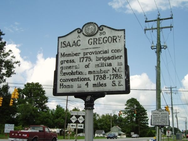 Brigadier General Isaac Gregory Highway Marker